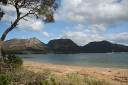130324 View From Our Camp Freycinet NP Med