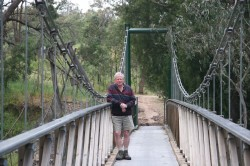 Russ on Swing Bridge at Eldorado Med