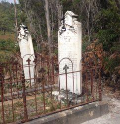 20160303 Graves beside Ida Bay Train Med
